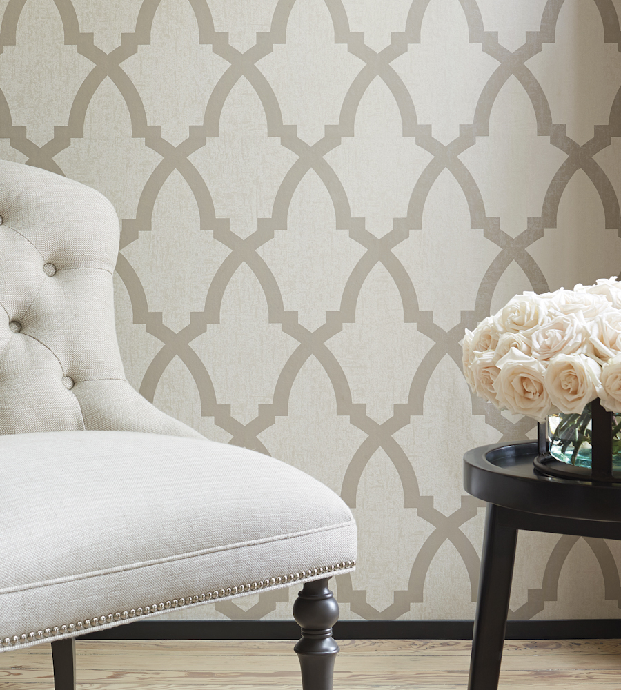Brock Trellis Neutral Wallpaper Seraphina Wallpaper