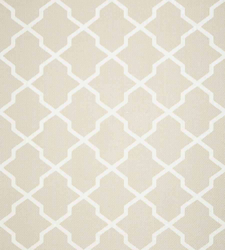 Neutral Trellis Wallpaper: Carolyn Trellis - Flax Wallpaper