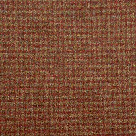 Houndstooth Burnt Umber Fabric Harris Tweed Art Of