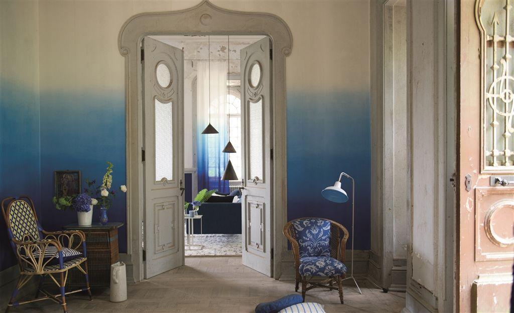 Saraille Cobalt Wallpaper Contarini Wallpaper Designers Guild