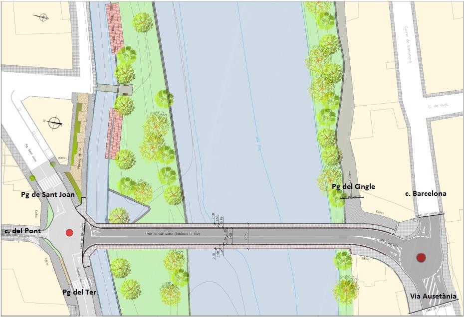 Projecte d'ampliació del Pont de Can Molas