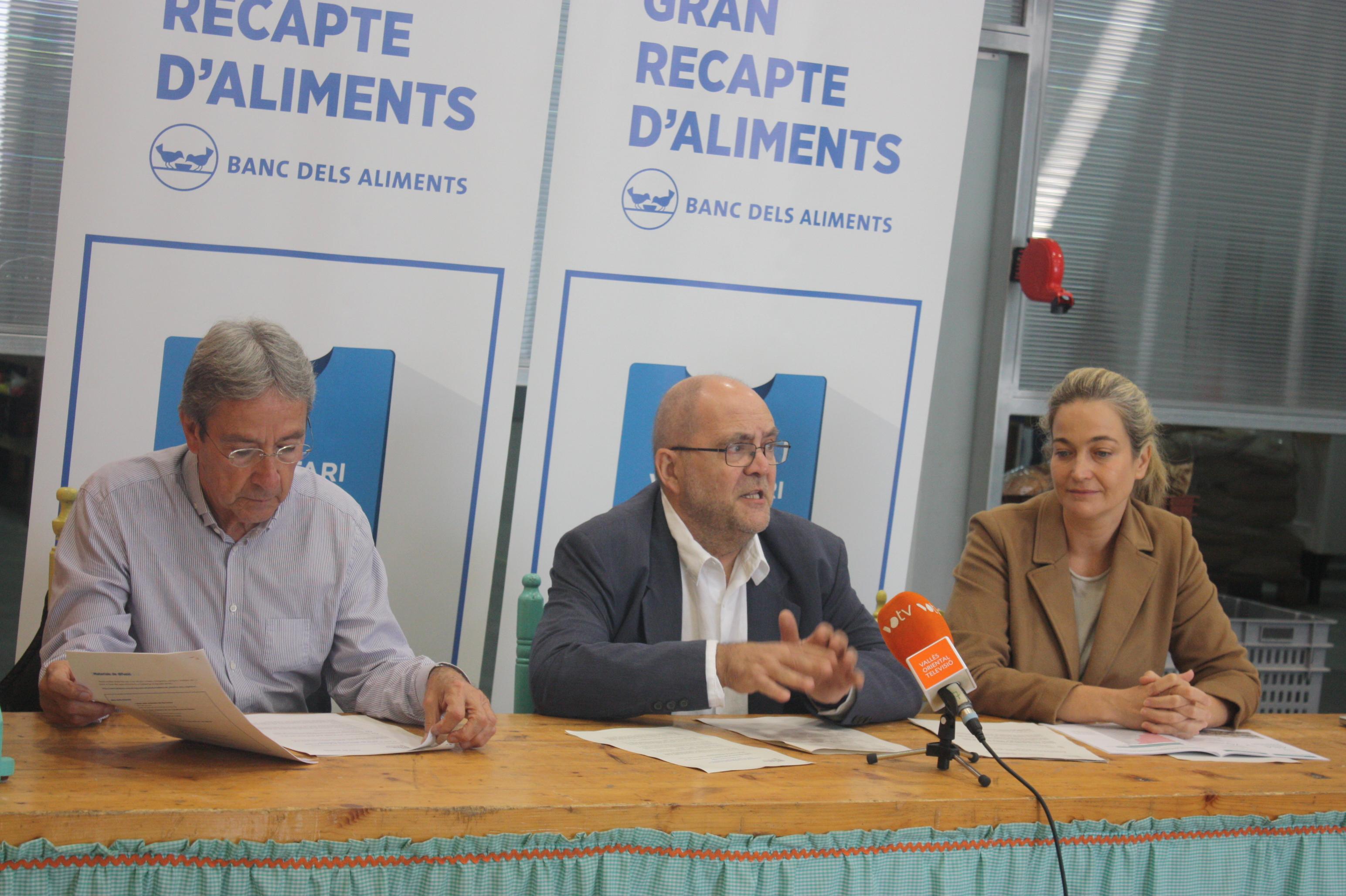 D'esquerra a dreta, Francesc Llonch, Ramon Mora i Belén Giménez