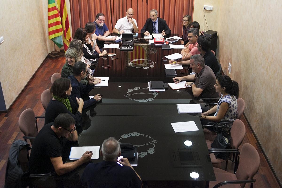 La reunió dels dos equips de govern es va fer a Parets