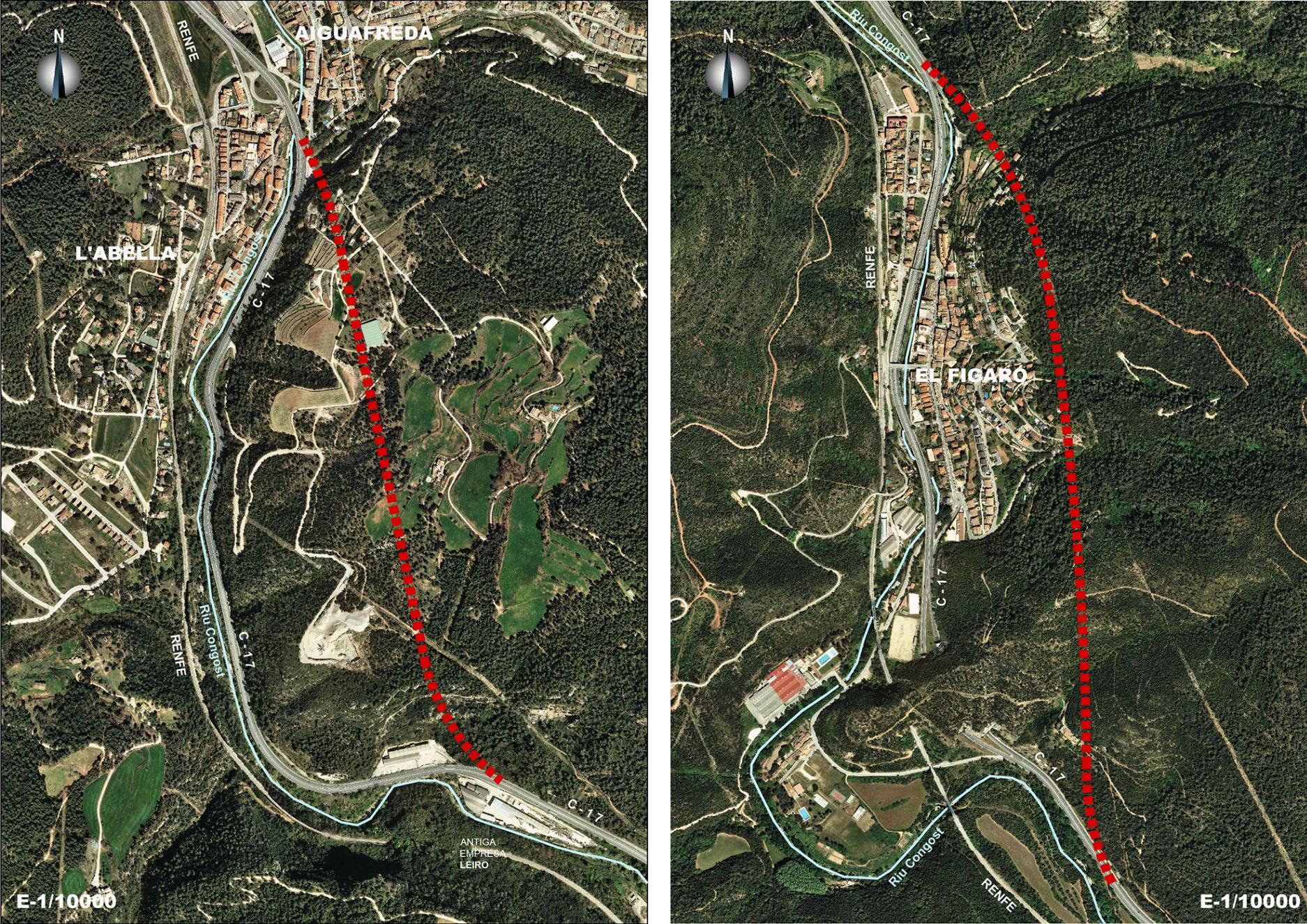 El projecte proposa allunyar la carretera de la vall del Congost en els trams entre Aiguafreda i Tagamanent, i el Figaró