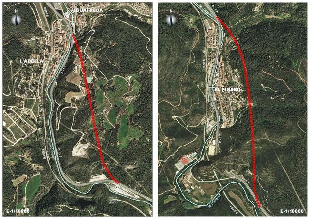 Les dues propostes de túnel presentades en el marc de les trobades de la Xarxa C-17