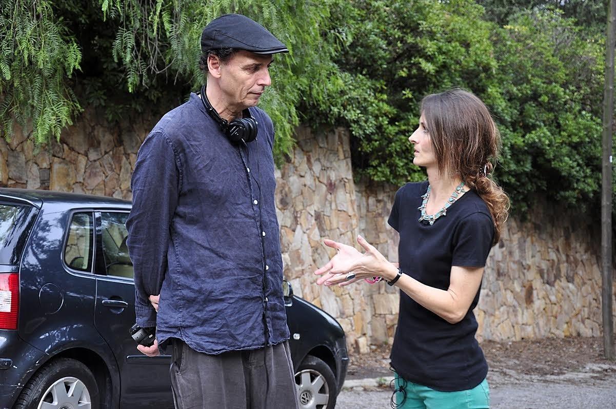 El director José Luis Guerín amb Patrícia Gil quan rodaven la pel·lícula