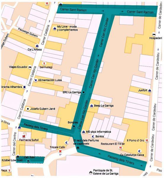 Mapa de la zona afectada