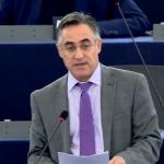 Ramon Tremosa durant la seva intervenció al Parlament Europeu aquest dimarts al matí