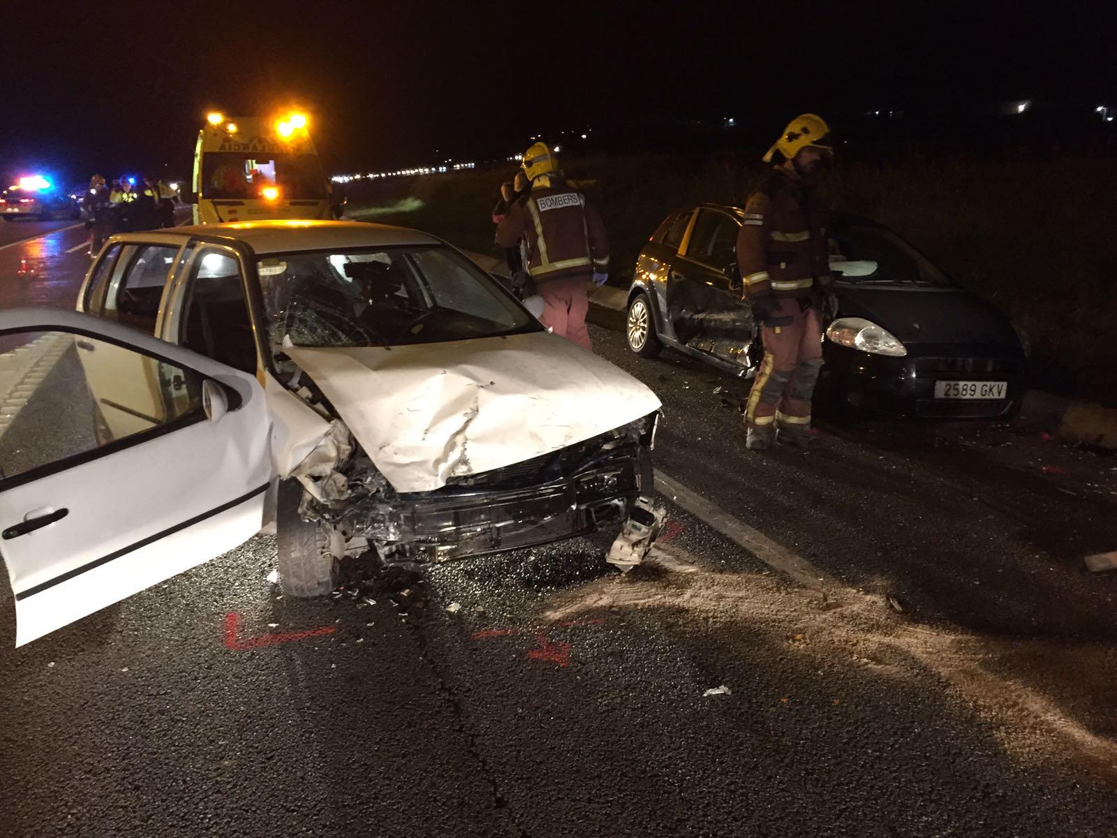 Un dels vehicles implicats en l'accident de Caldes d'aquest dissabte a la tarda