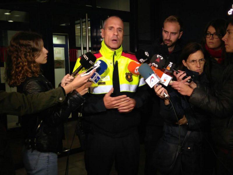 L'intendent Xavier Porcuna ha atès els mitjans de comunicació aquest vespre a la comissaria de Granollers / Ramon Ferrandis