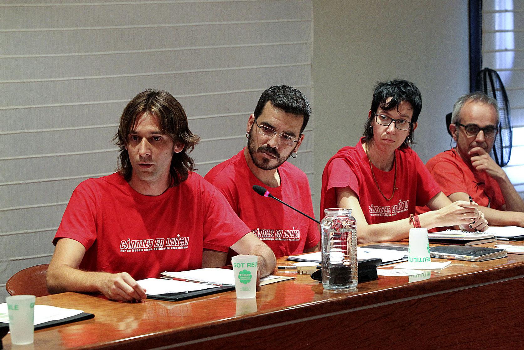 Els regidors de la CUP a Manlleu
