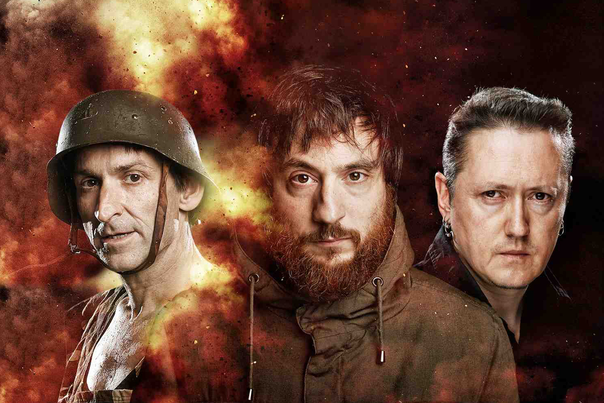 Pla, Fernández i Muguruza en una imatge promocional de l'espectacle