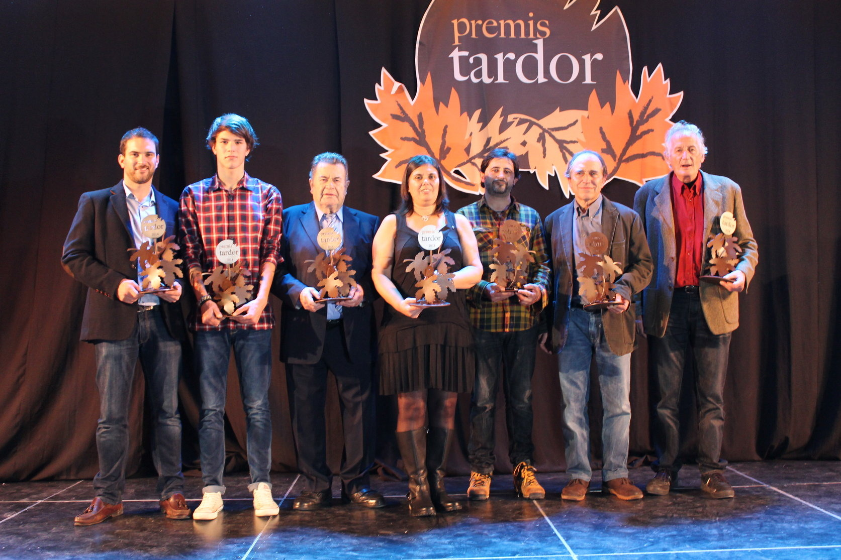 Els premiats d'una edició anterior