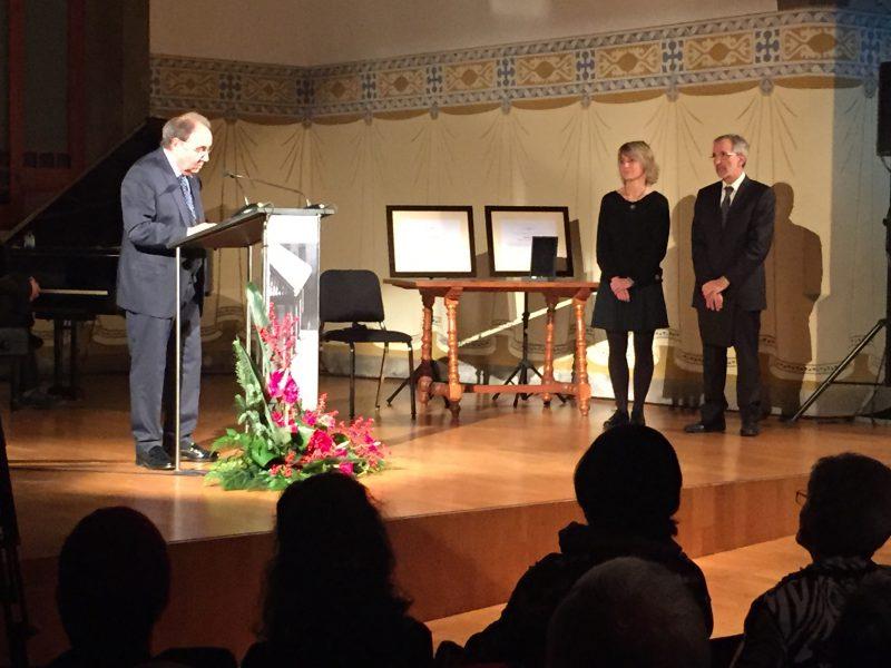 Joan Garriga va ser el primer en rebre la Medalla / Ferran Polo