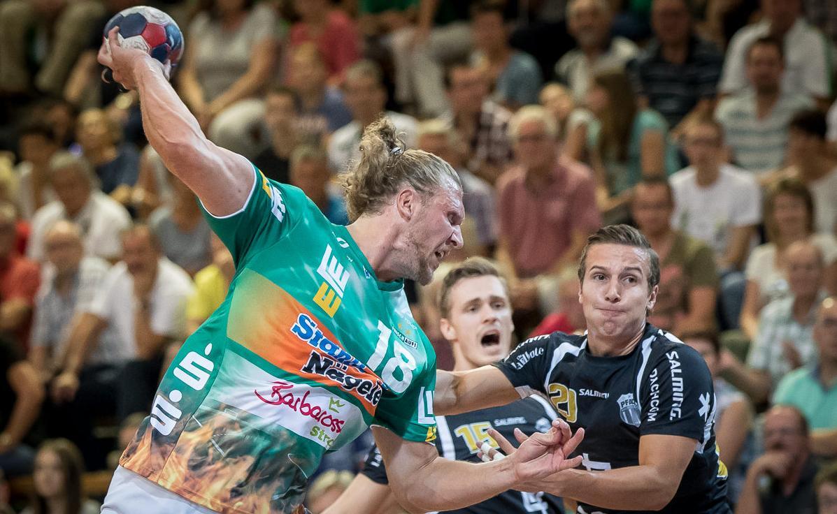 Lars Kaufmann, jugador del Göppingen, en un partit recent