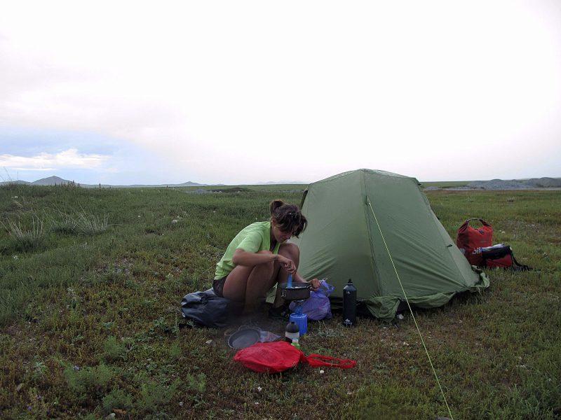 Comas, en una tenda a Mongòlia