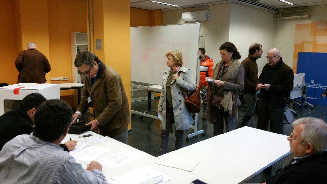Les eleccions es van fer dissabte a 16 meses repartides per tot Catalunya