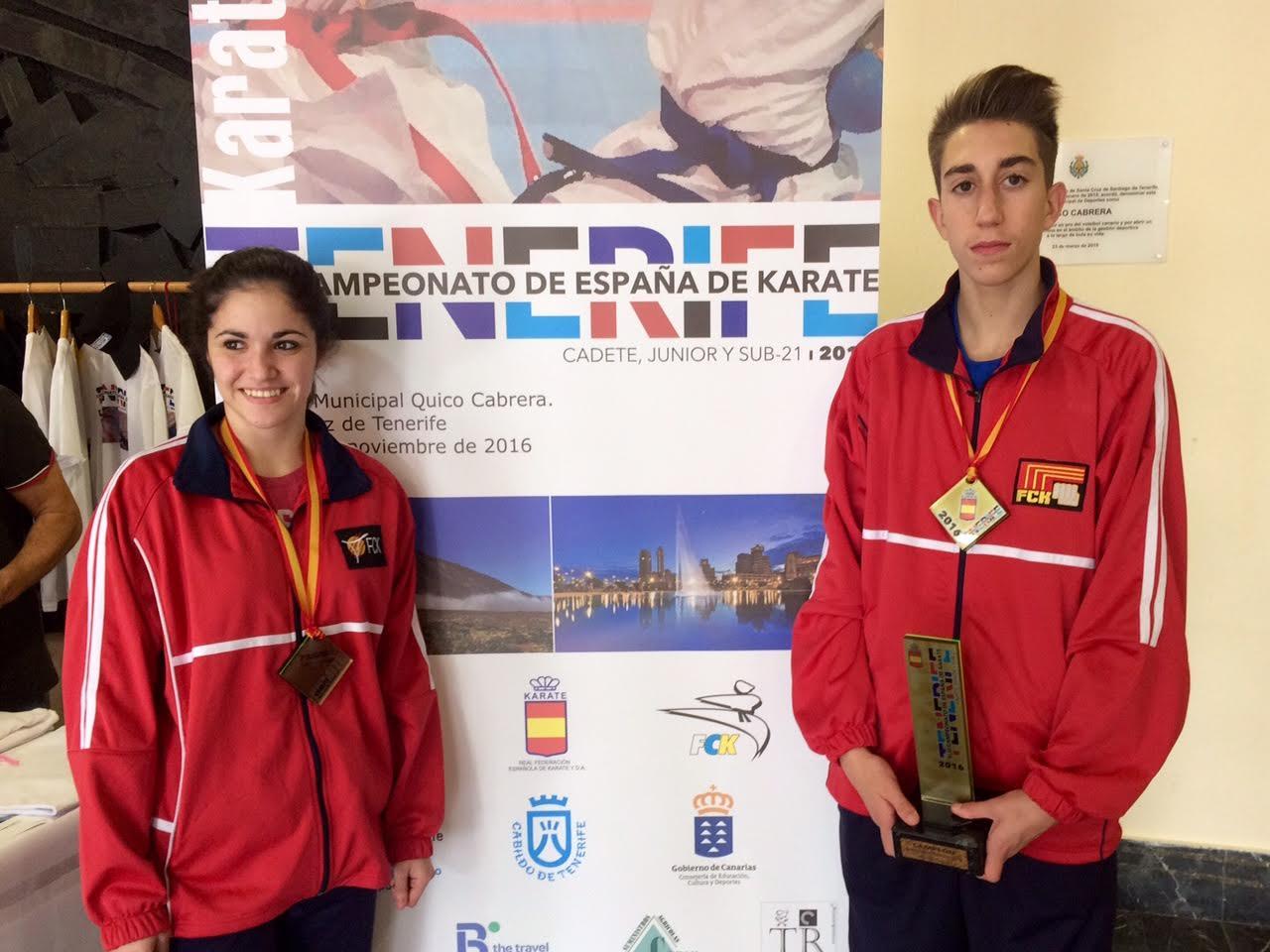 Joan Just i Eva Cano, companya del club que va obtenir el bronze, al campionat