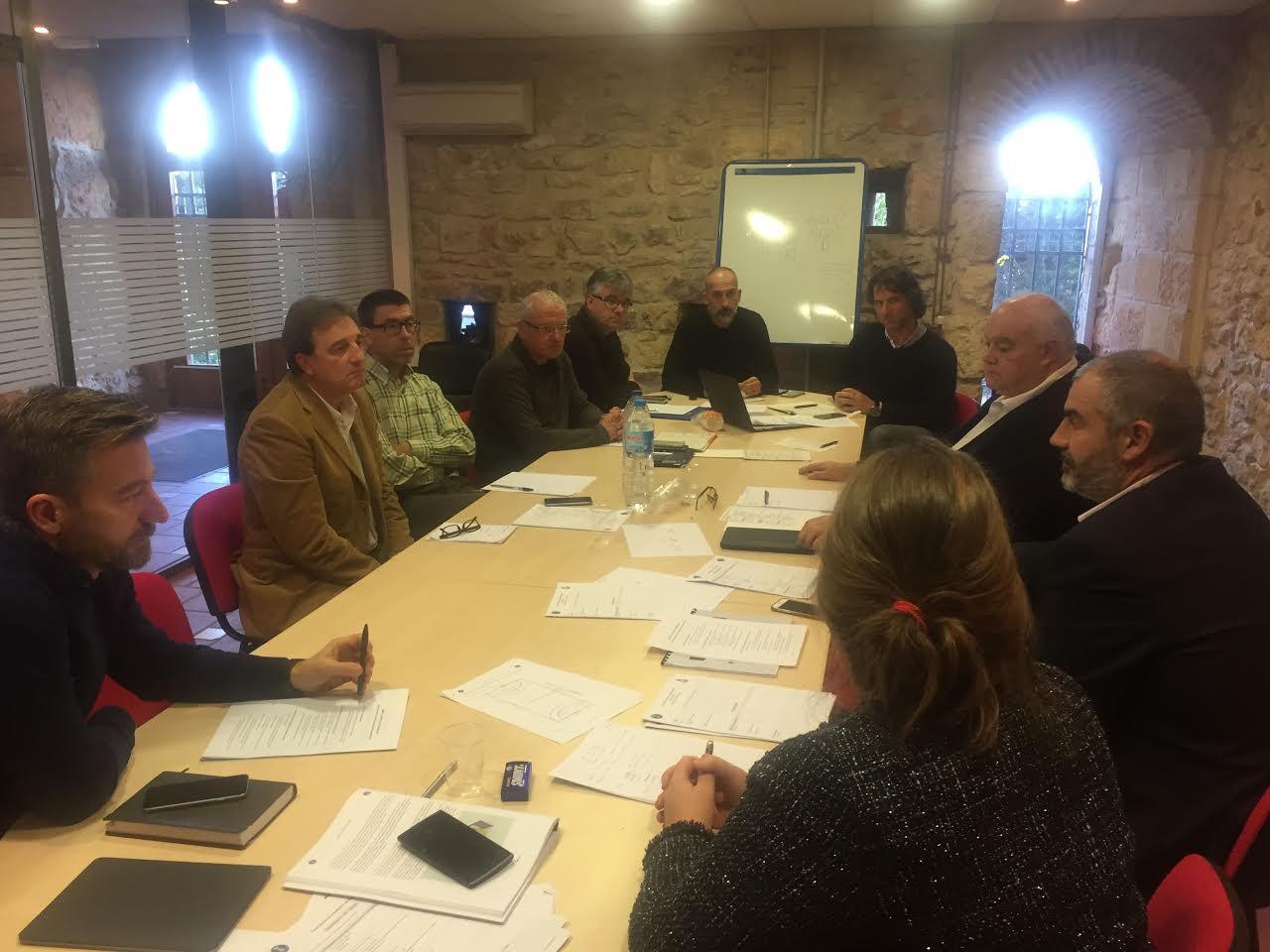 Representants de les quatre subseus de la candidatura espanyola, reunits aquest dimarts a Tarragona