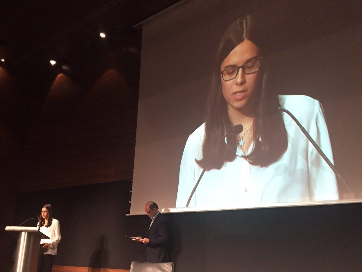 Patricia Sampedro, guanyadora Categoria Estudiant TIC.