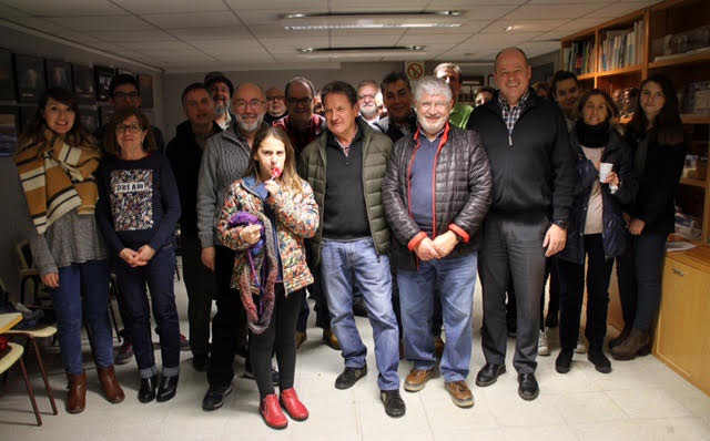 Foto de família dels participants a la trobada