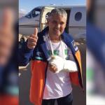 El xef en un missatge gravat abans de sortir del Marroc