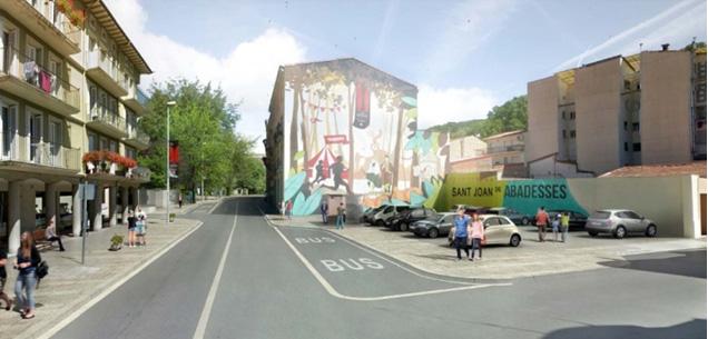 Imatge virtual de la parada d'autobús en sentit Camprodon