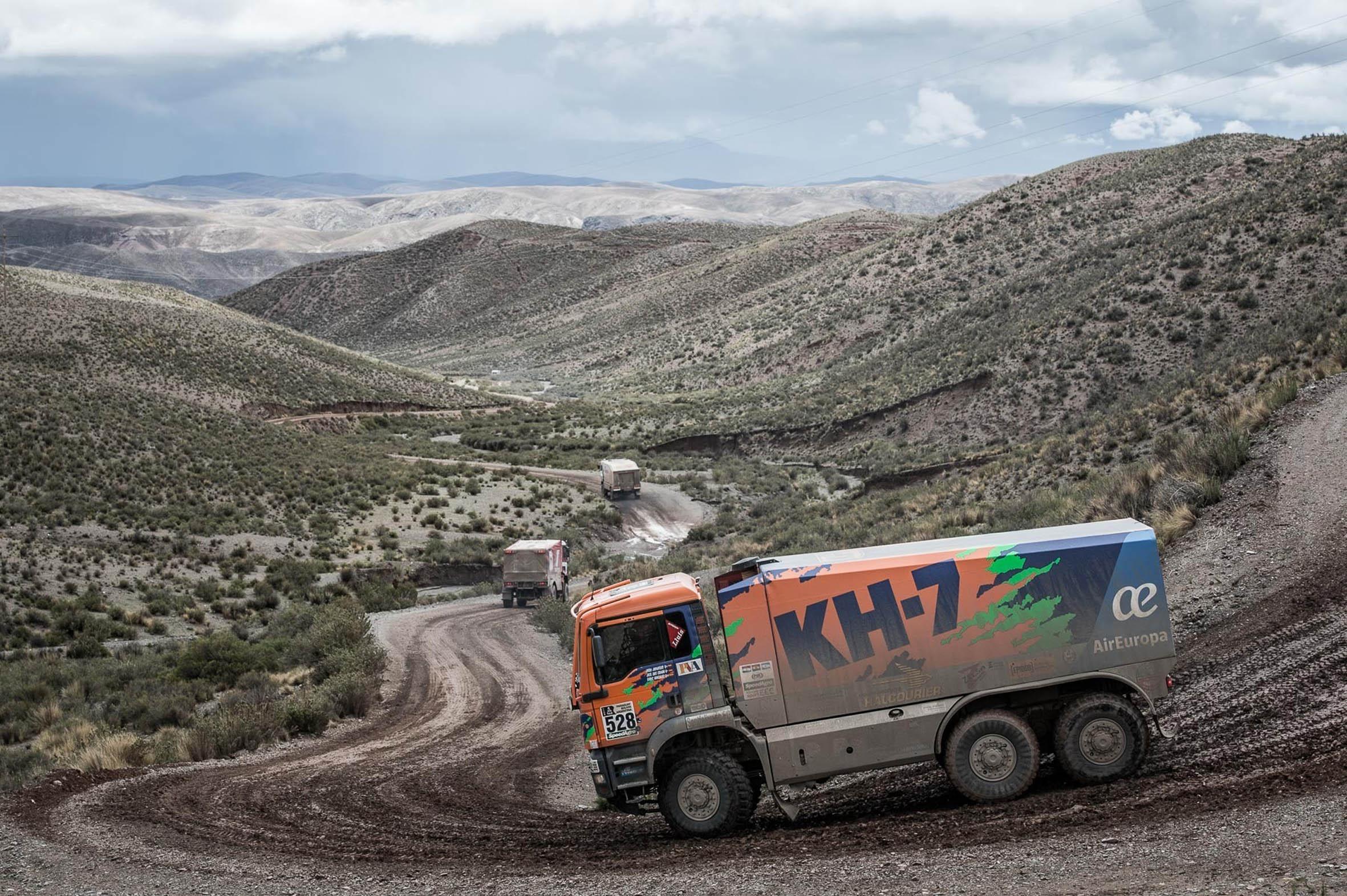 El camió dels vallesans, en un dels espectaculars paratges del ral·li