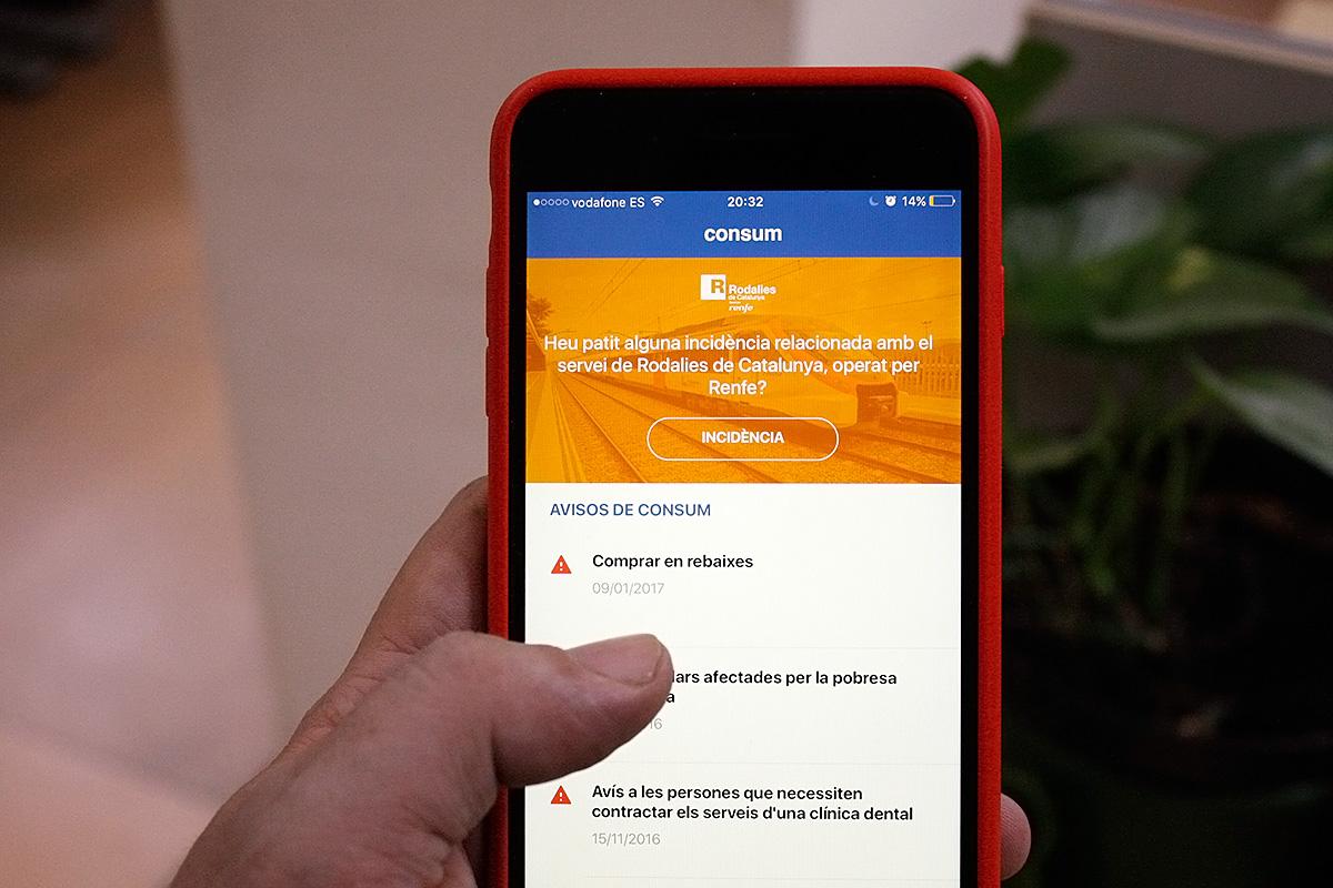 La nova aplicació de Consum permet accedir fàcilment a denunciar una incidència