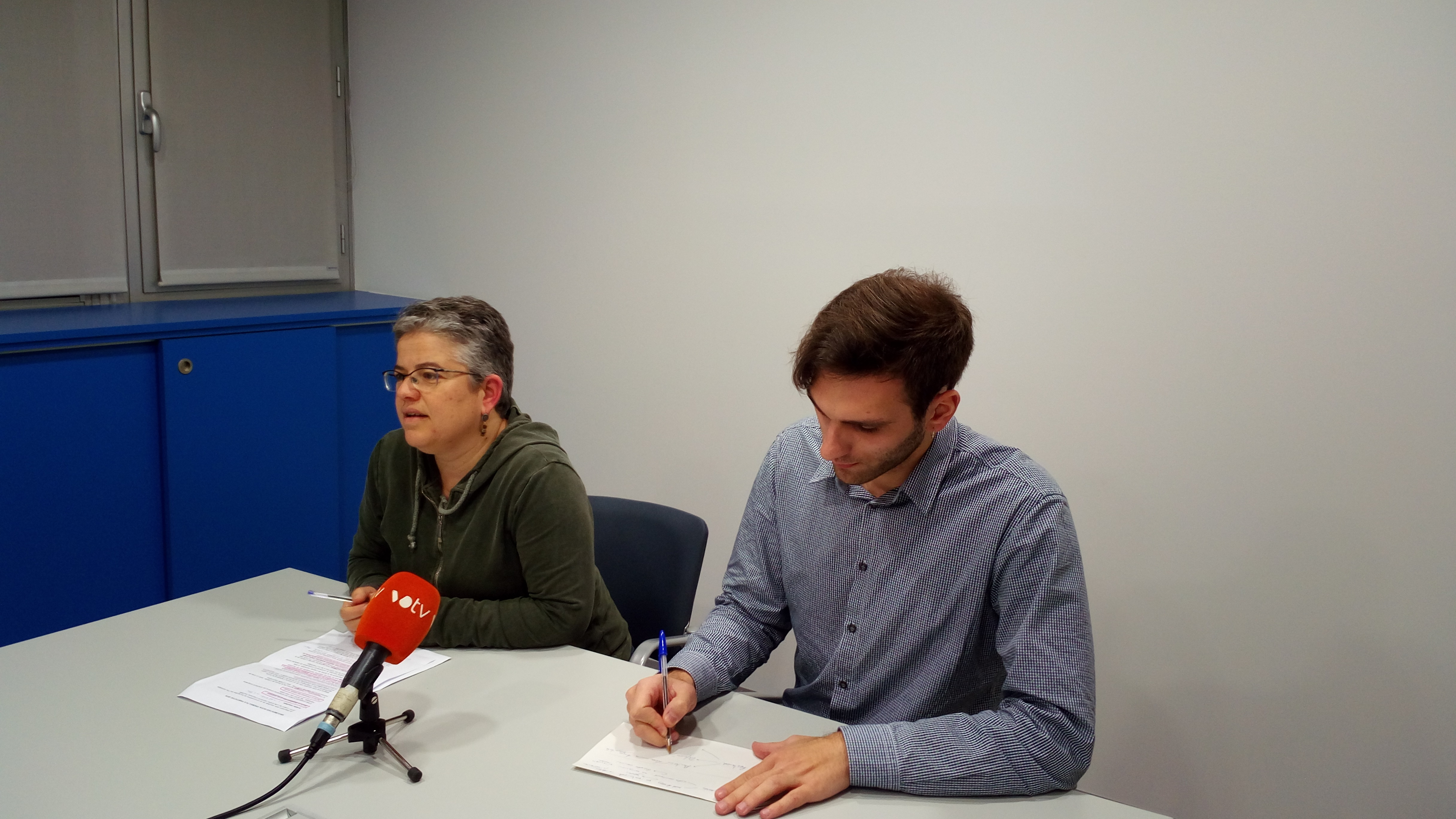 Núria Maynou i Josep Maria Catot, en la roda de premsa