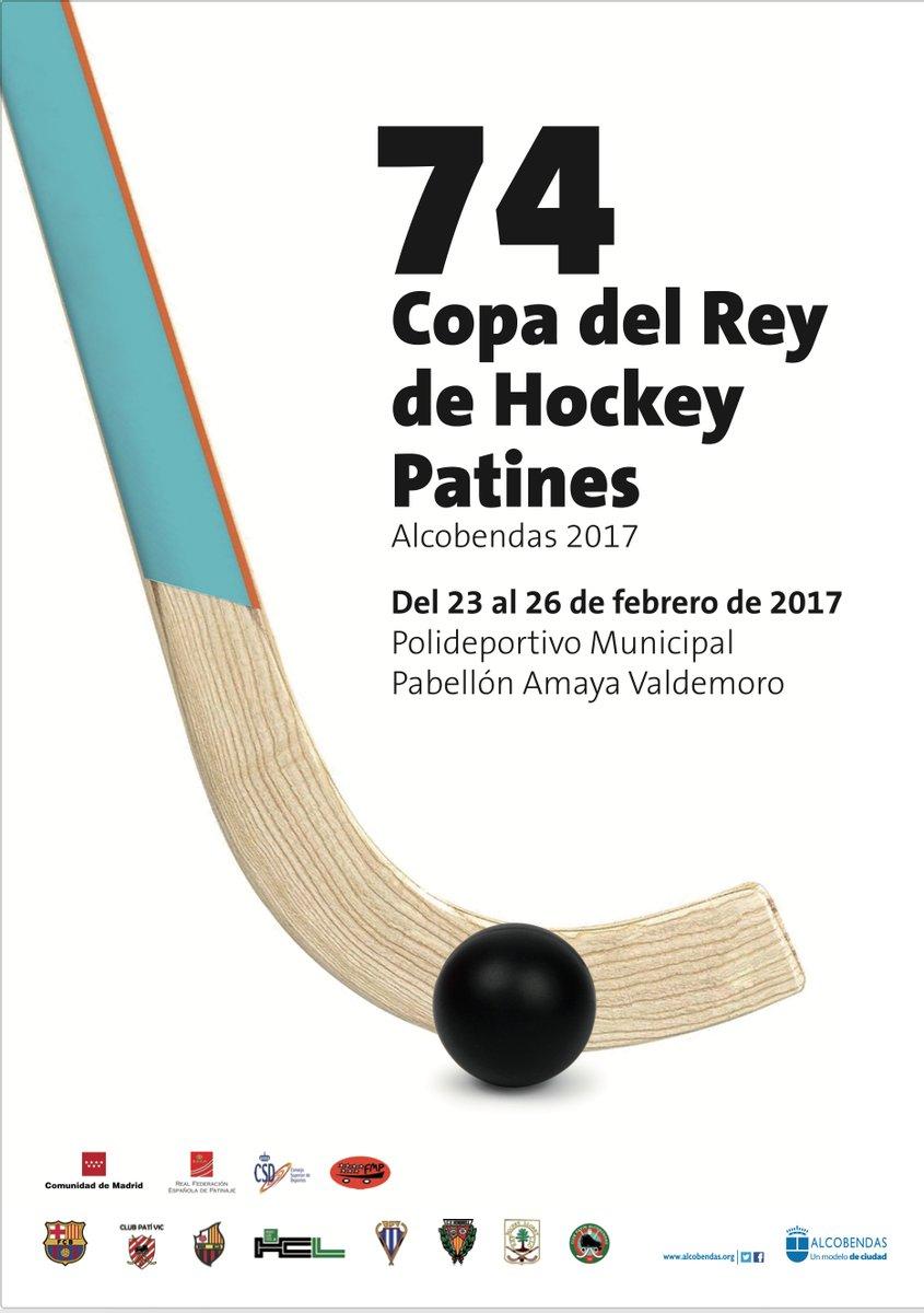 Cartell de la Copa del Rei d'hoquei patins 2017 a Alcobendas