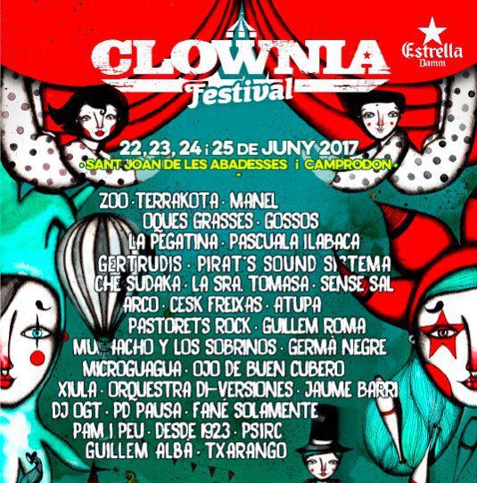 El cartell de Clownia per la quarta edició