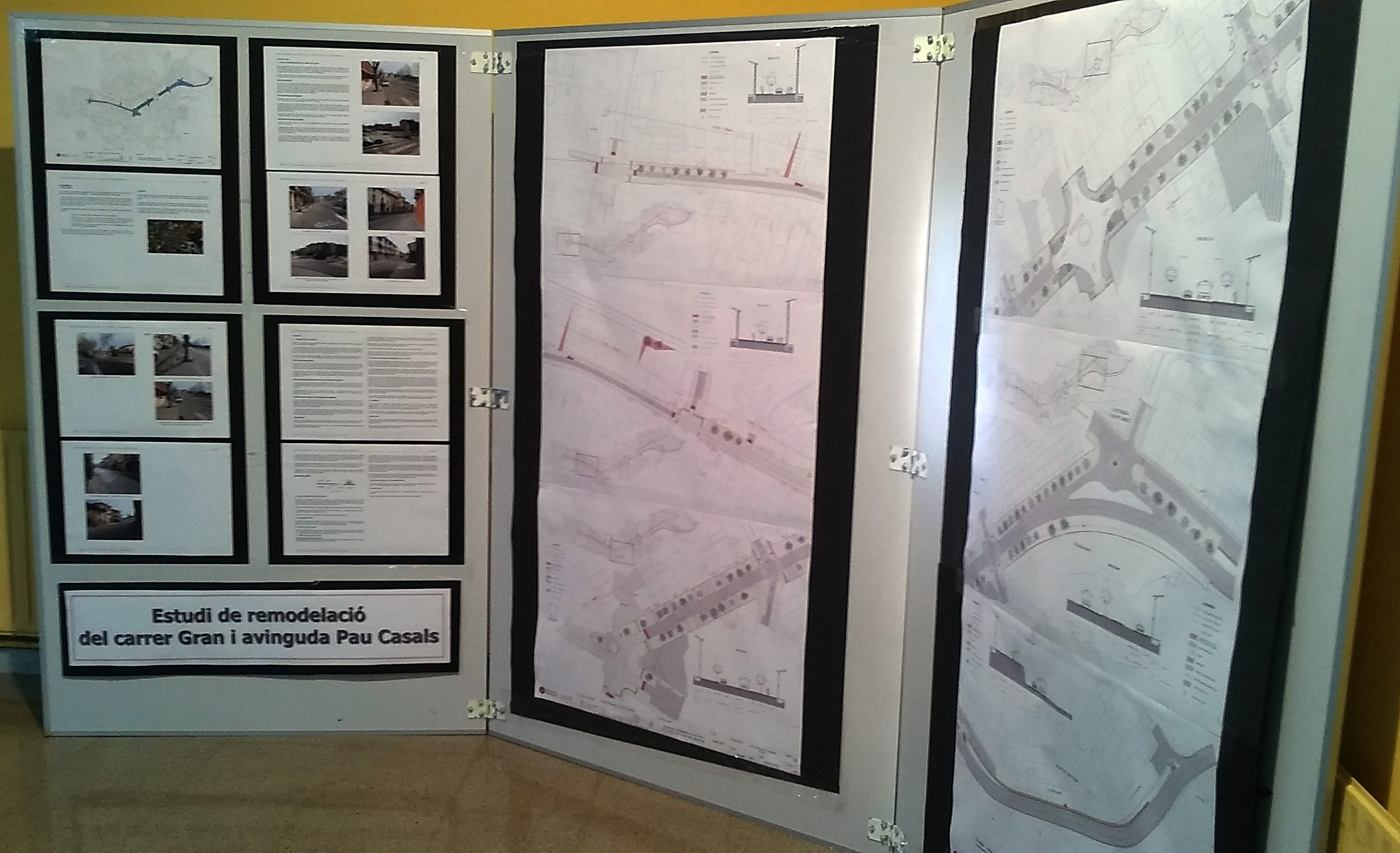 Exposició de l'Estudi de remodelació de la N141D al vestíbul de l'Ajuntament de Calldetenes