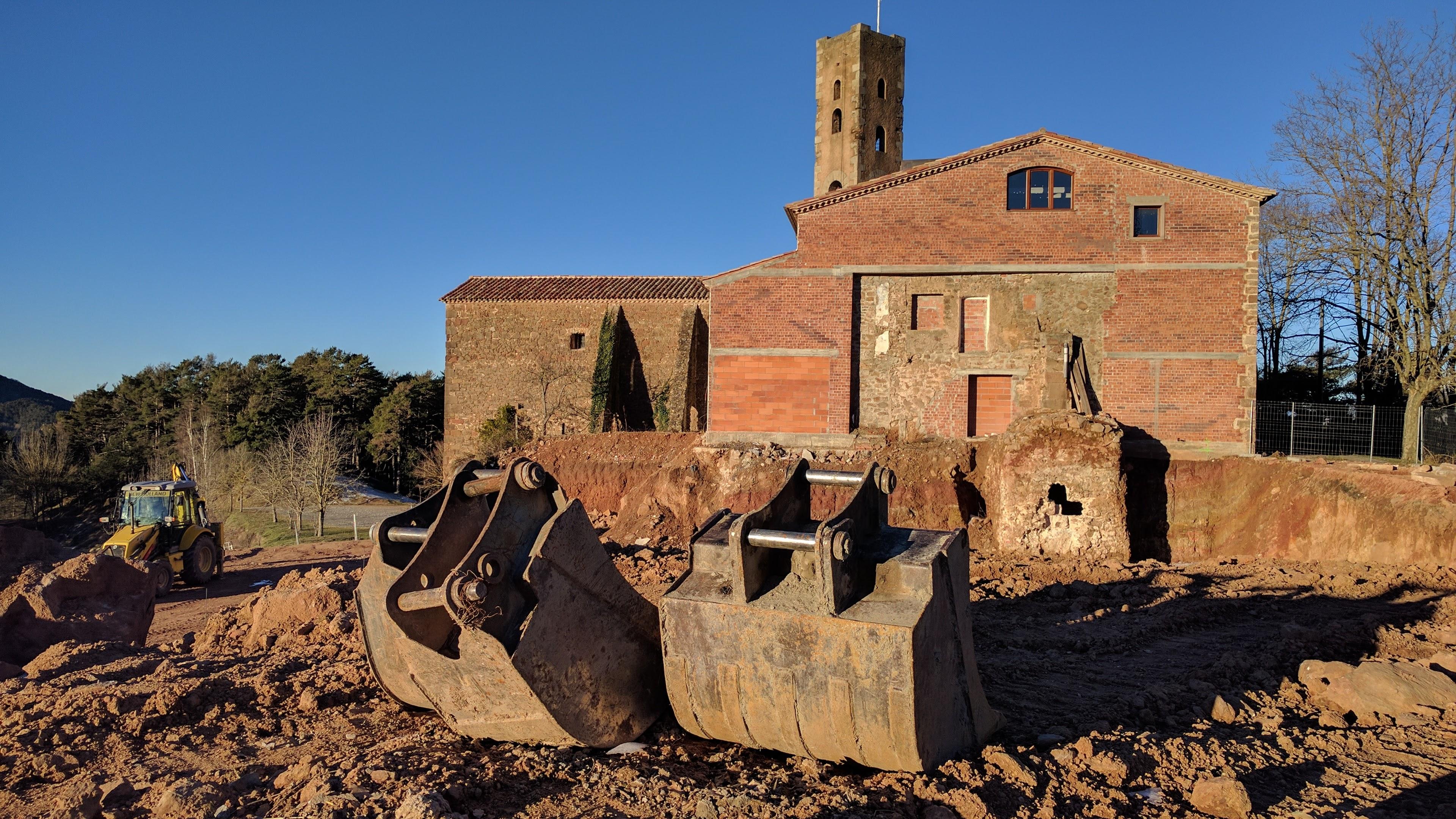 Inici de les obres a l'ermita de Sant Antoni