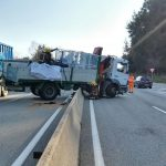 El camió accidentat aquest dimarts al migdia a la Garriga