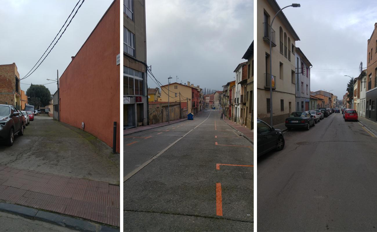 Una comparativa del passatge Vendrell, el carrer Vendrell i el carrer del Serpent (antic Vázquez de Mella)