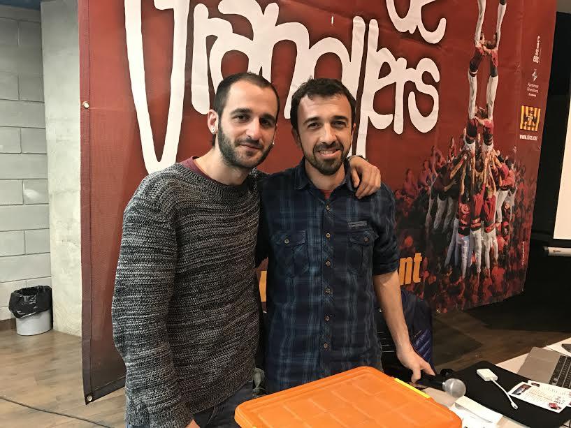 Xavier Usarralde i David Carruesco, nous cap de colla i president dels Xics de Granollers