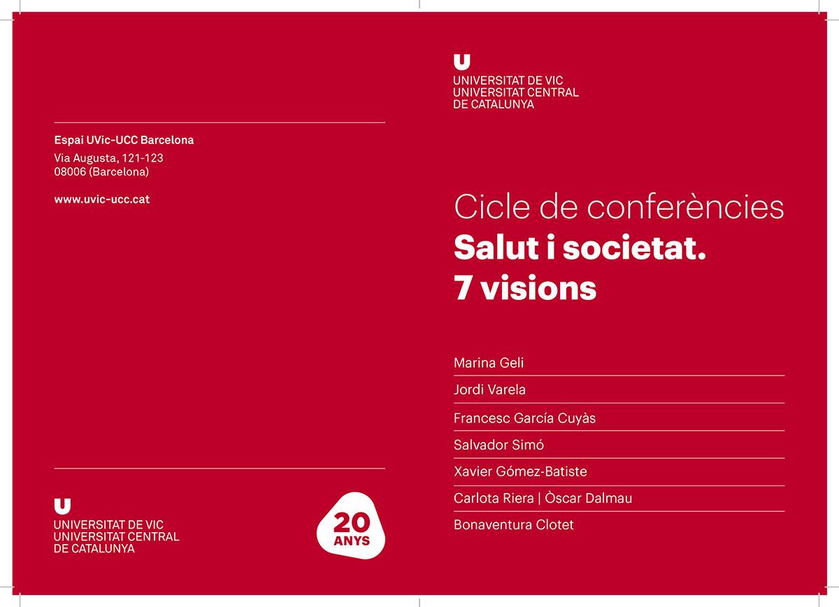 """Cartell del cicle de conferències """"Salut i societat. 7 visions"""""""