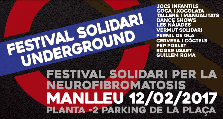 Cartell del festival solidari que es farà diumenge a Manlleu