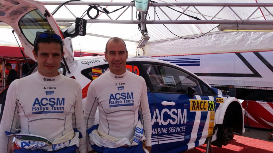 Àlex Haro i Xevi Pons al Ral·li Catalunya de 2014, l'última cursa del Mundial que va disputar