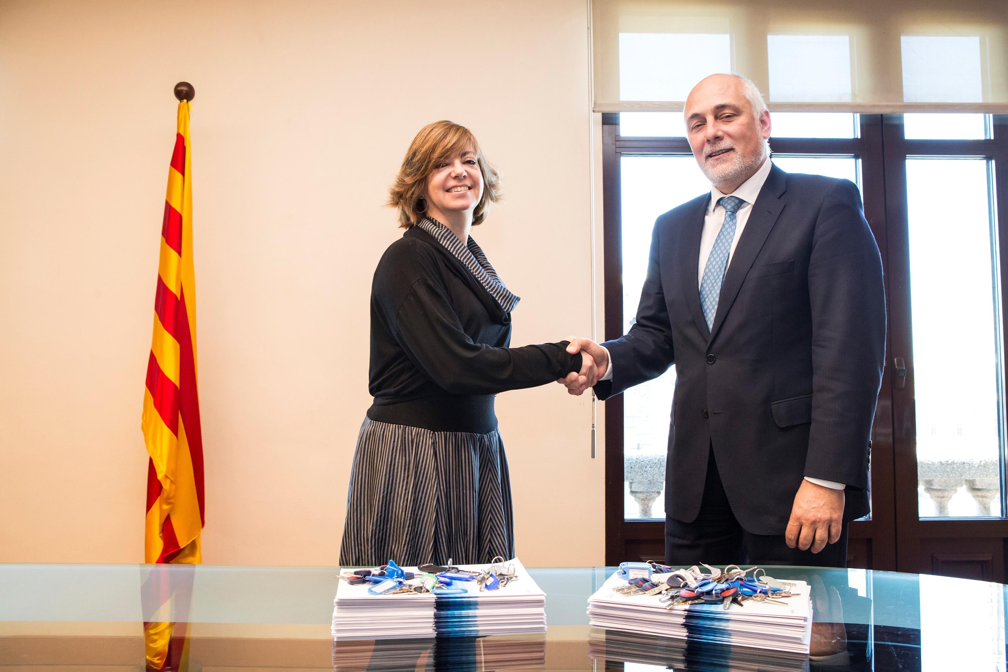 Meritxell Borràs, consellera de Governació, Administracions Públiques i Habitatge i Christian Terribas, director territorial de BBVA a Barcelona