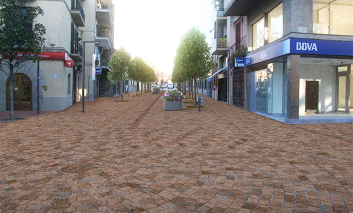 Una imatge virtual de l'aspecte que tindrà el tram urbà de la carretera un cop feta l'actuació
