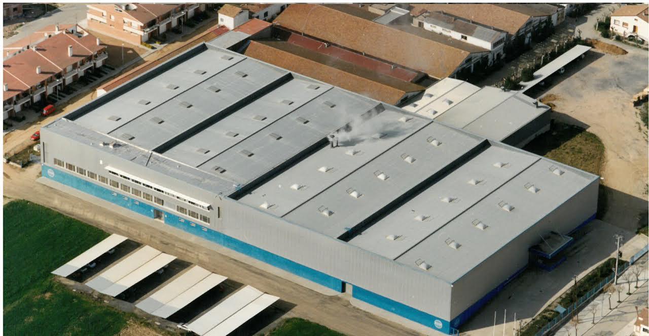 Una vista aèria de la planta d'Aunde a Sant Celoni