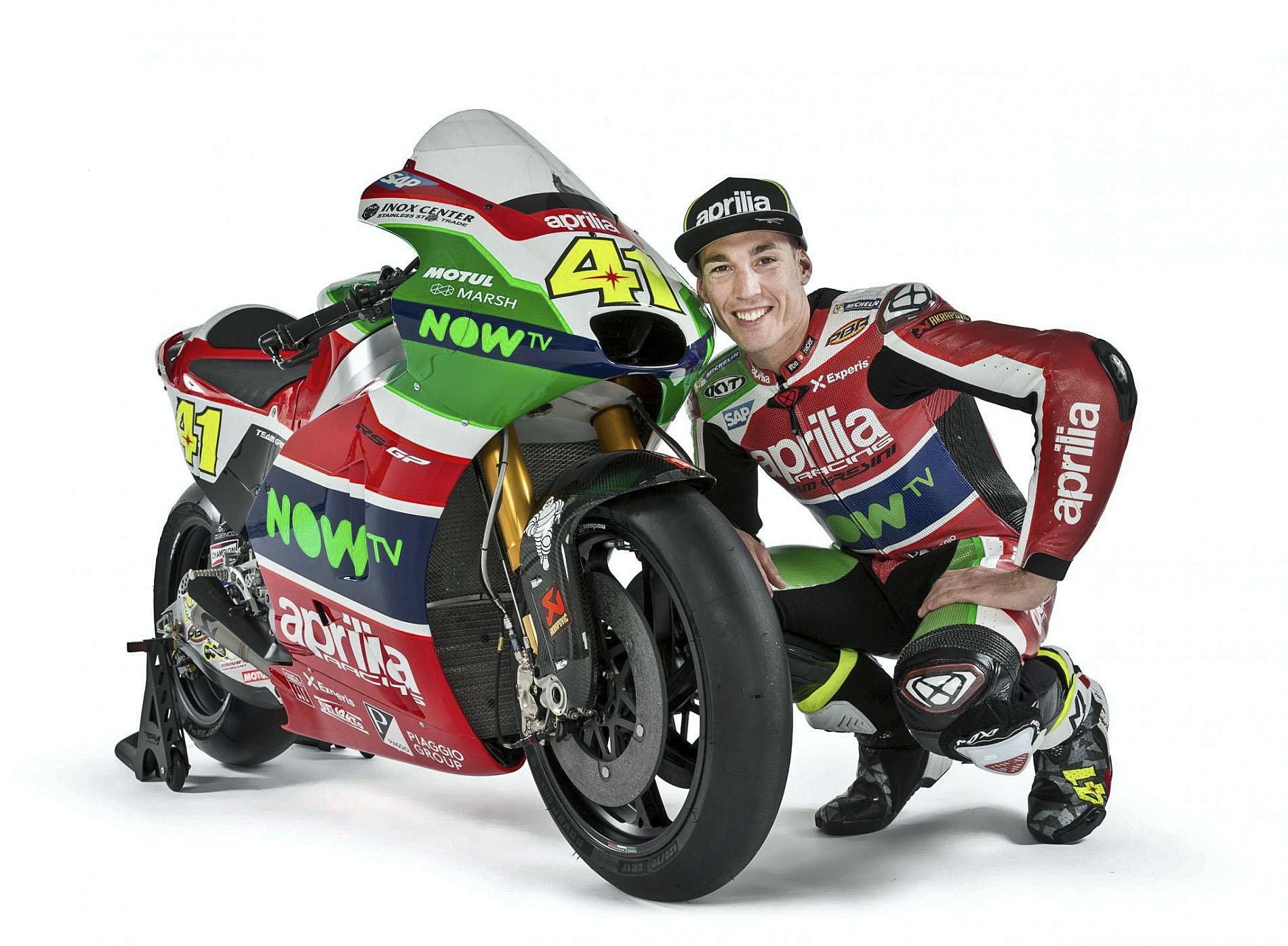 Aleix Espargaró amb la seva Aprilia RS-GP
