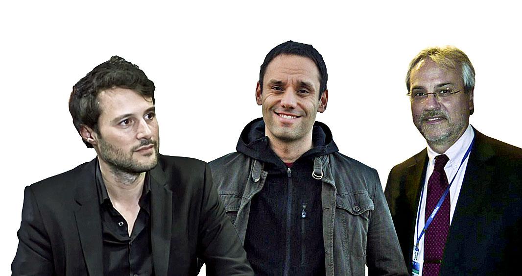 Els tres ponents del Club de premsa d'aquest divendres