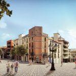 Aspecte virtual de la plaça de la Font del Lleó un cop s'hagin fet les obres