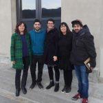 Alguer Miquel i Joaquim Canals, veu i bateria de Txarango amb membres de la Fundació MAP