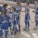 Les jugadores del Voltregà celebrant la victòria