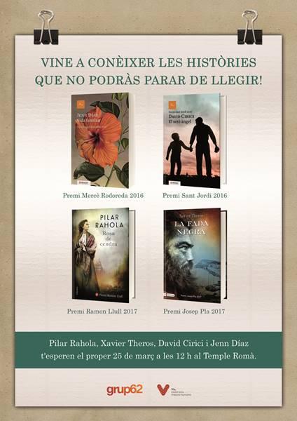 """L'acte comptarà amb la presentació de les obres literàries: """"Vida familiar"""", """"La fada negra"""", """"El setè àngel"""" i """"Rosa de cendra"""""""