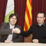 Visita del president de la Diputació de Girona, Pere Vila, a Molló